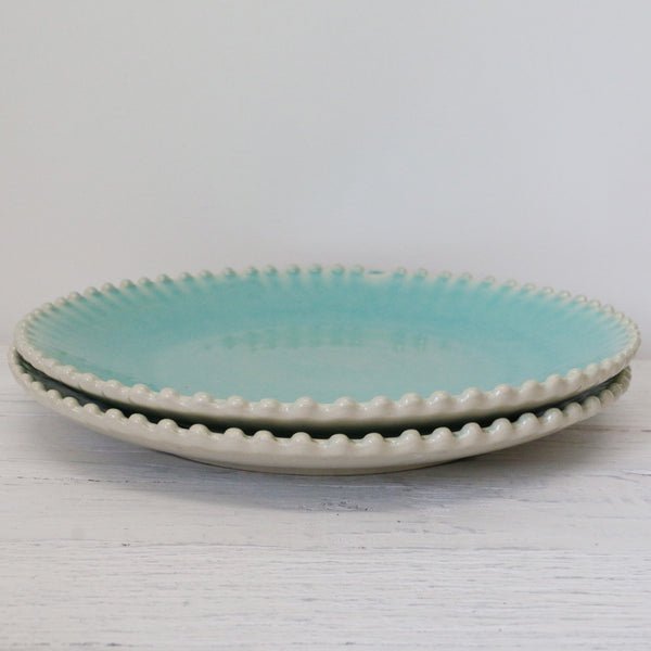 Costa Nova Turquoise Large Pearl Plate