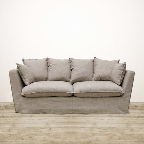 Hampton Couch in Linen Tweed