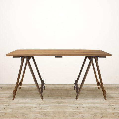 Trestle Desk in Natural Timber