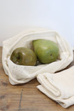 Set of Three Organic Produce Bags in Swallow Print
