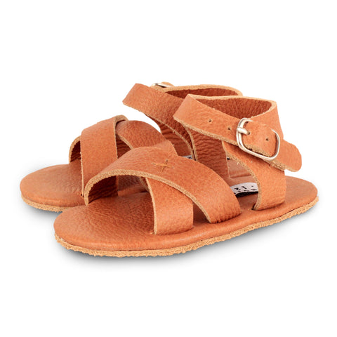 Donsje  Giggles Leather Sandals in Cognac
