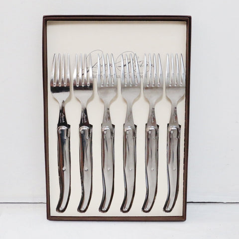 Laguiole Stainless Steel Table Forks Set of 6