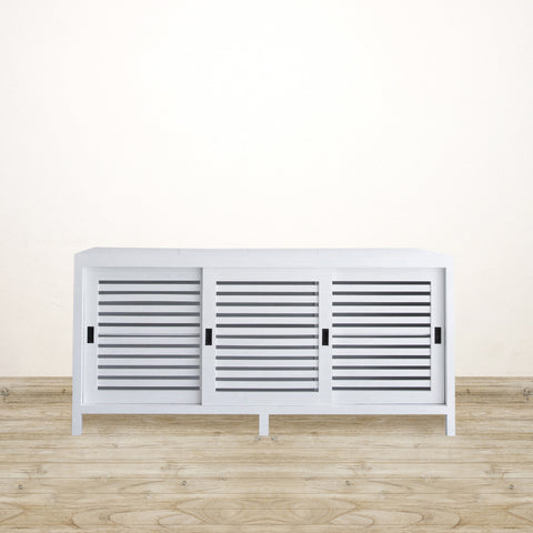 Sideboard with Sliding Doors in White