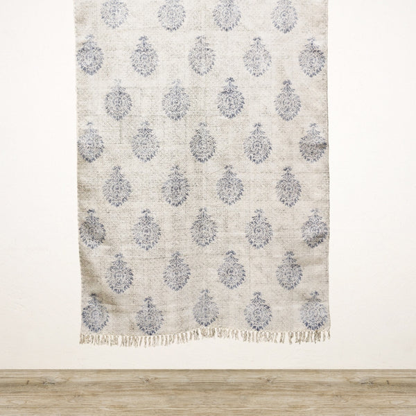Parterre Hand Printed Cotton Rug 120x180