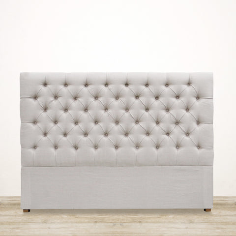 Deep Button Linen Headboard - Queen