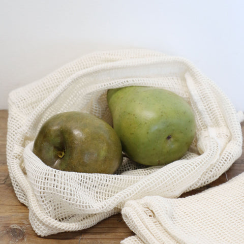 Set of Three Organic Produce Bags in  Dot Print