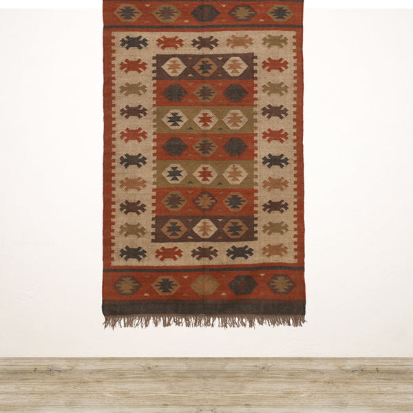 Red Tribal Kilim Rug 1200x1800