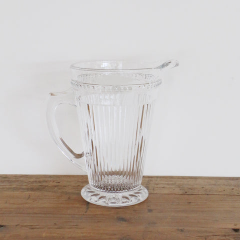 Vintage Look Ribbed Glass Jug