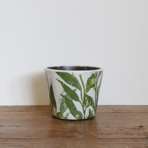 Palm Leaf Medium Planter