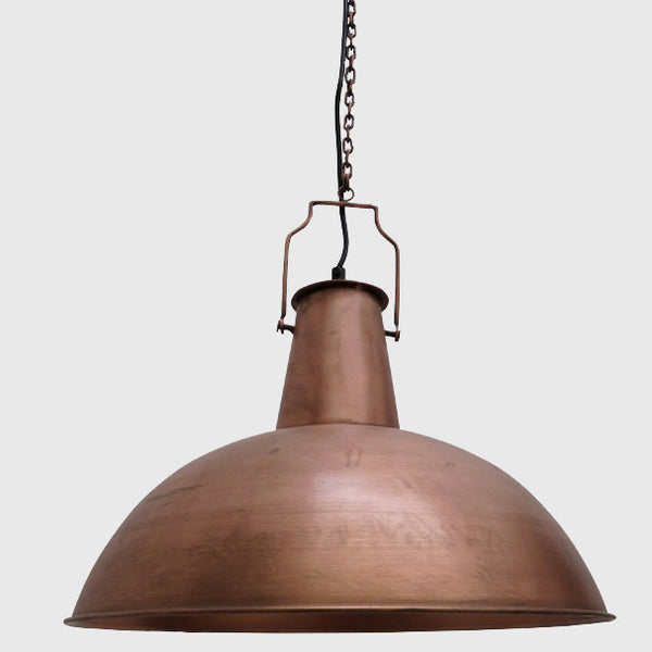 Boiler Room Industrial Hanging Light in Copper Finish