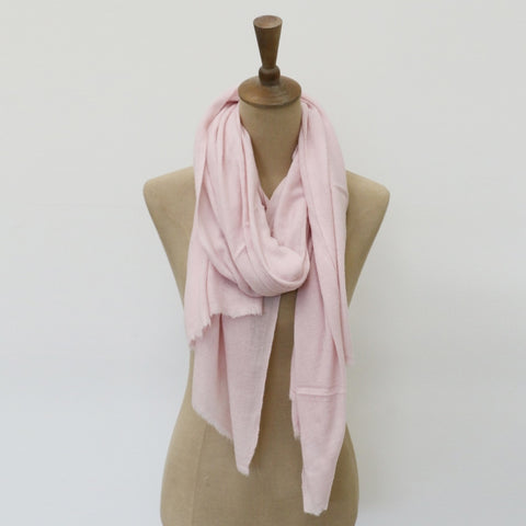 Blush Cashmere and Wool Scarf