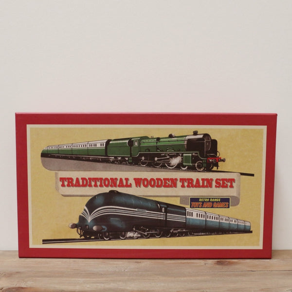 RETRO TRADITIONAL WOODEN TRAIN SET