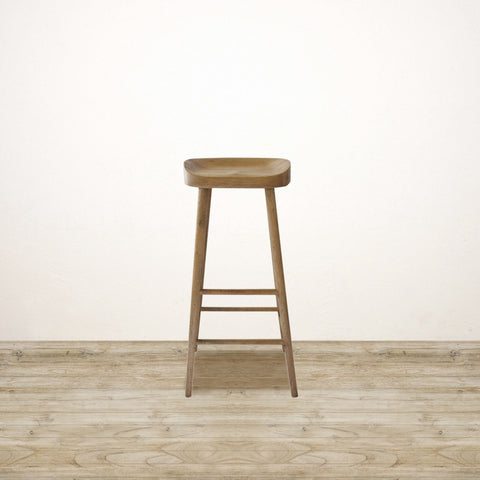 Odessa Bar Stool in Solid Oak