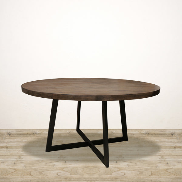 Dark Oak Round Manhattan Dining Table