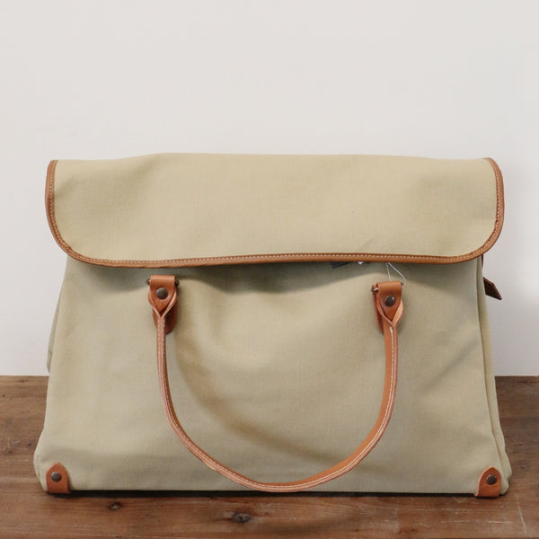 French Leather Manhattan bag in Light Olive