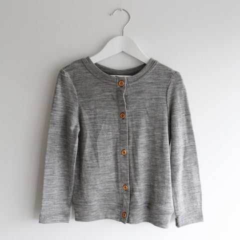 Little Perriam Girls Cardigan in Grey Marl 3-4 Years