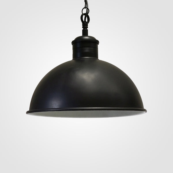 Large Hanging Lamp in Antique Black