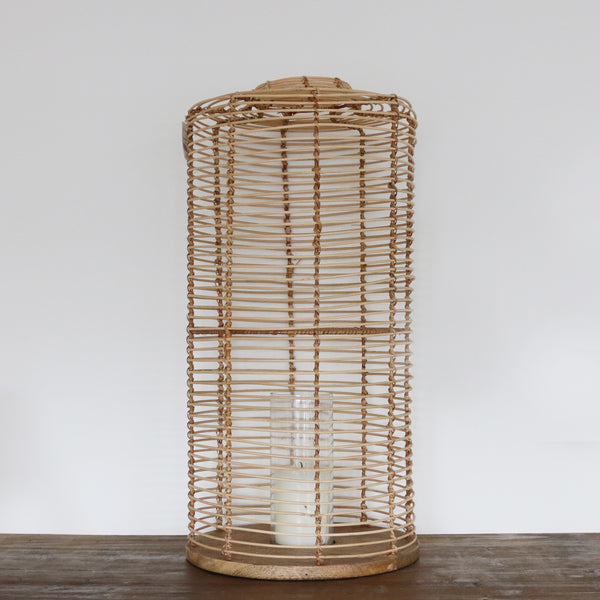 Bermuda Wicker Lantern Large