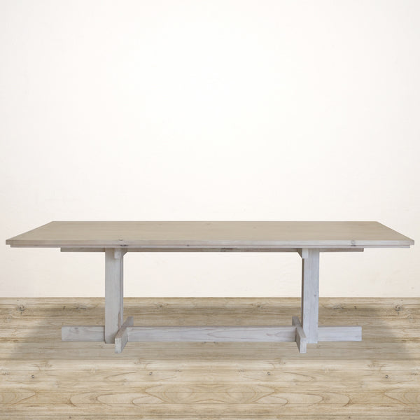 Campaign Recycled Pine Dining Table in White Wash