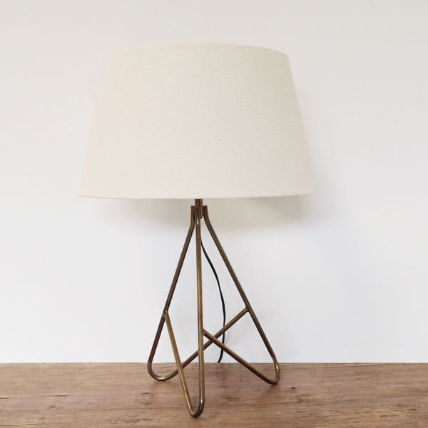 Tripod Lamp in Antique Brass Finish