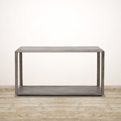 Ibiza Reclaimed Oak Console with Glass Top
