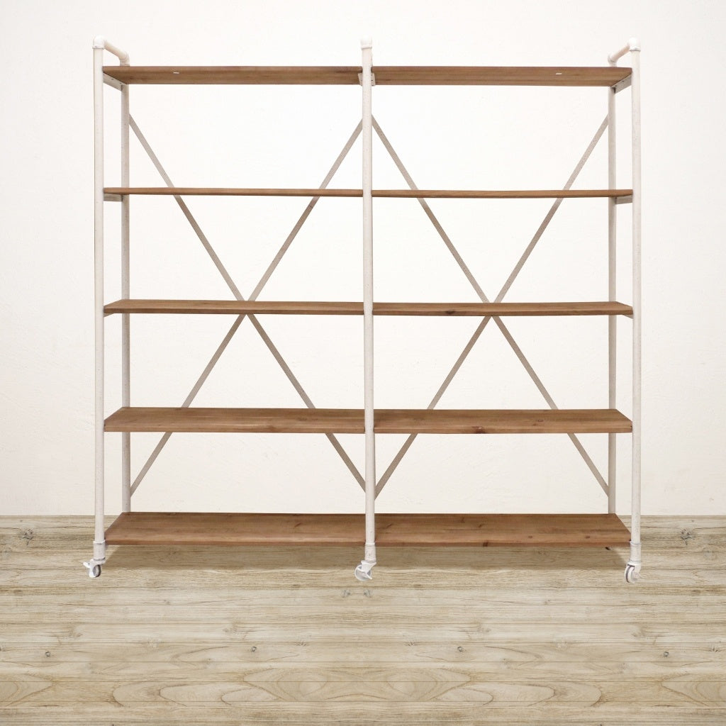 online store 275c4 4089c Recycled Pine Industrial Shelving Unit in White Wash