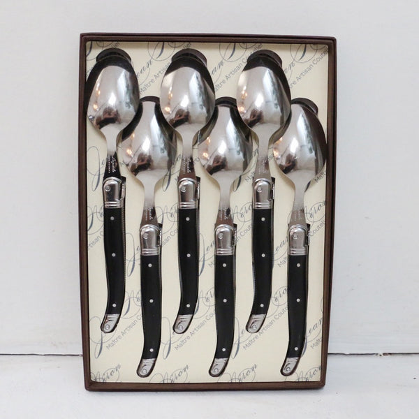 Laguiole Black Dessert Spoons Set of 6