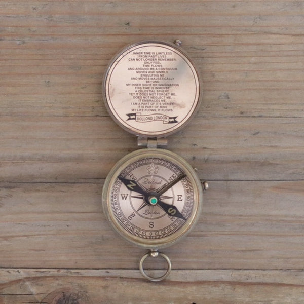 Antique Brass Style Pocket Compass