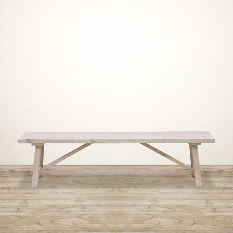White Washed Loire Bench Seat