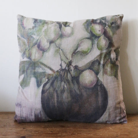 Ivy & Fig Linen Cushion Cover