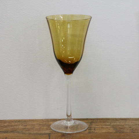 Harvest Gold Wine Glass