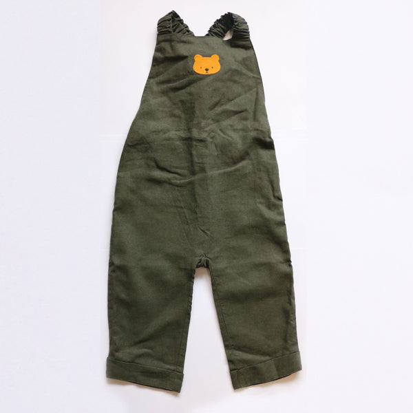 Donsje  Dane Bear Overall in Olive Green