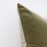 Sage Green Velvet Cushion Cover