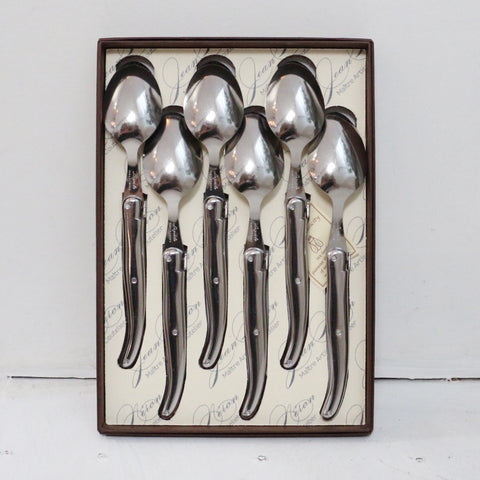 Laguiole Stainless Steel Dessert Spoons Set of 6