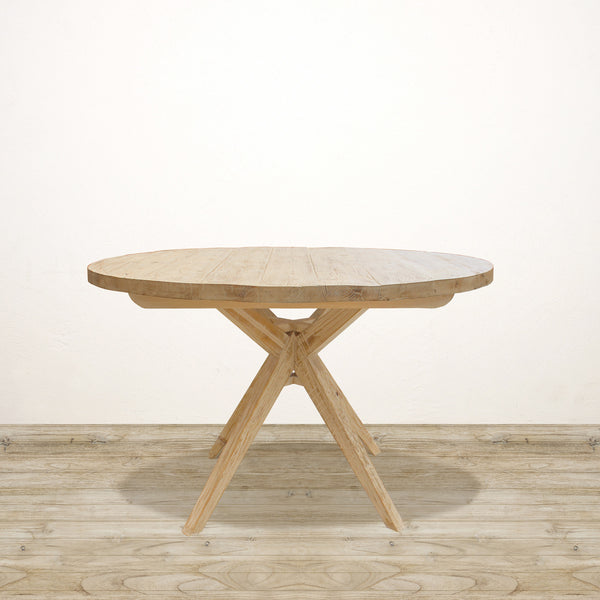 Round Dining Table in Recycled Pine