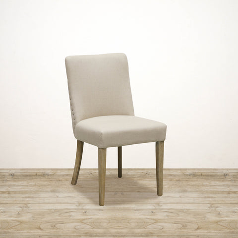 Bastide Linen Dining Chair with Natural Oak Legs