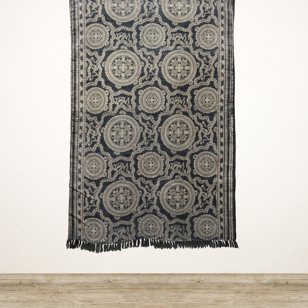 Midnight Hand Dyed Stone Washed Cotton Rug