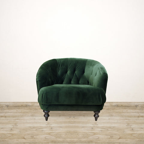 Emerald Green Venezia Velvet Chair