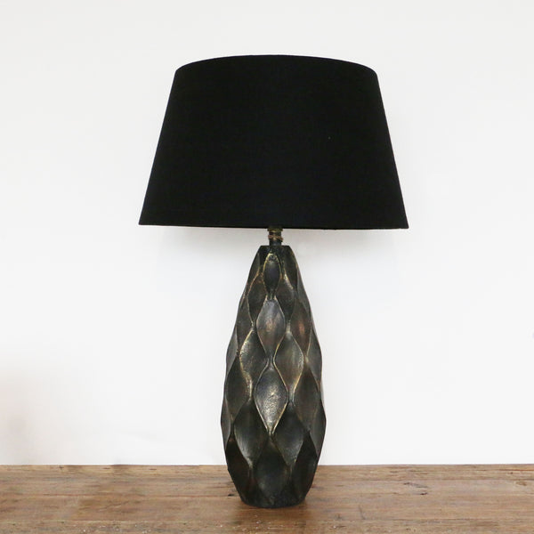 Brass Diamond Pattern Urn Lamp