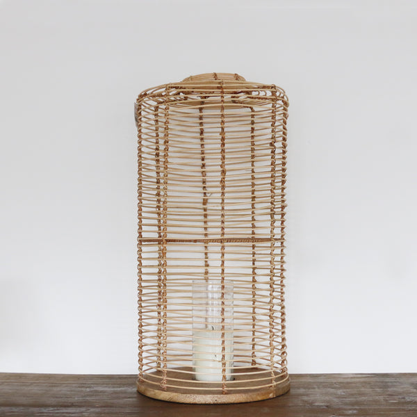Bermuda Wicker Lantern Medium