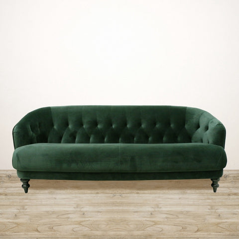 Emerald Green Velvet Venezia Three Seater Couch
