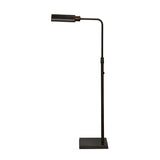 Adjustable Antique Brass Floor Lamp - Bronze Finish
