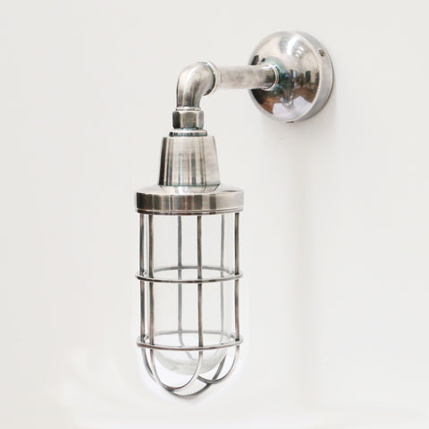 Brushed Pewter Style Wall Light