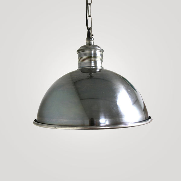 Medium Hanging Lamp in  Brushed Pewter Style
