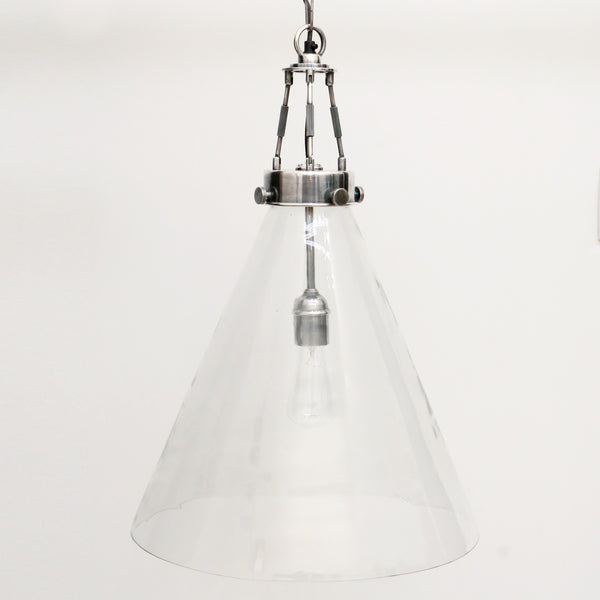 Large Glass Hanging Light