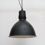 Large Hanging Light in Antique Black Finish