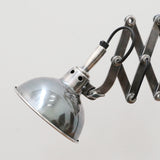 Antique Silver Finish Extending Desk Lamp