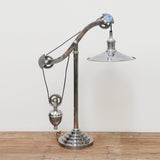 Antique Silver Finish Pulley Lamp