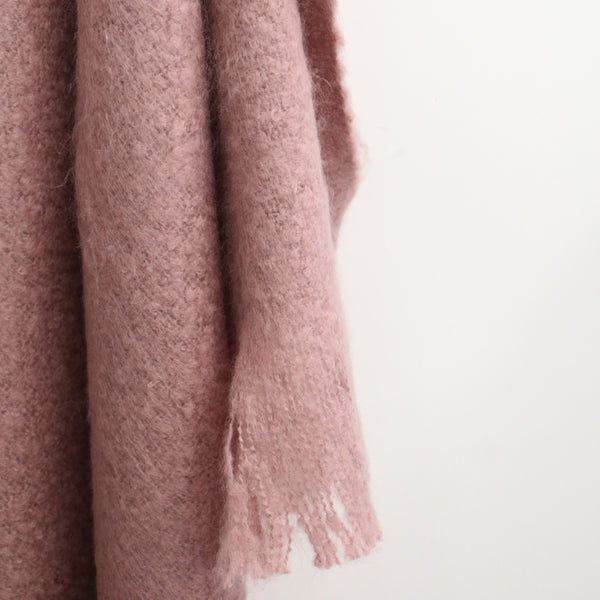 Dusky Pink Throw