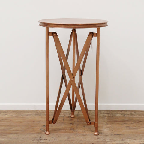 Copper Finish Petite Industrial Occasional Table